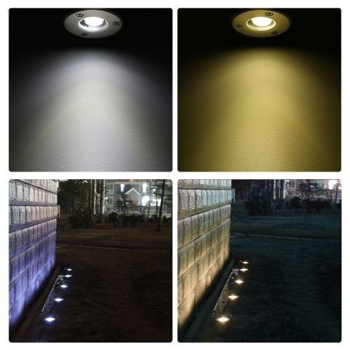 (5.15$)  Know more - http://aigql.worlditems.win/all/product.php?id=L1602WW-1 - Tomshine 1W AC/DC 12V LED Underground Light Lamp 100LM High-power Tempered Glass Outdoor Ground Garden Path Floor Stair Yard Spot Landscape Lamp IP67 Water Resistant Warm White