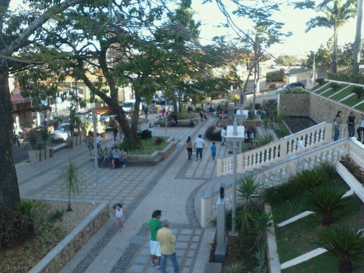 Praça Francisco Rubim em Jacutinga, MG