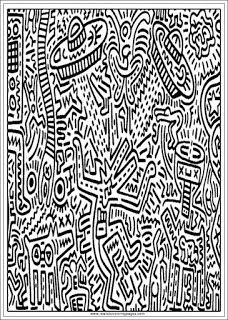 keith haring coloring pages - 110 best images about coloring pages for adults on
