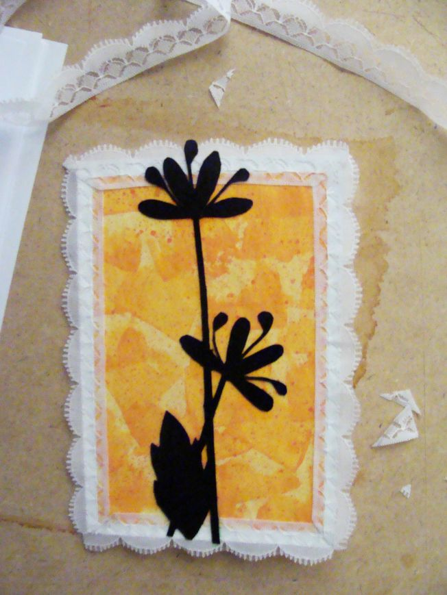 flower on handmade pattern. Any occassion card