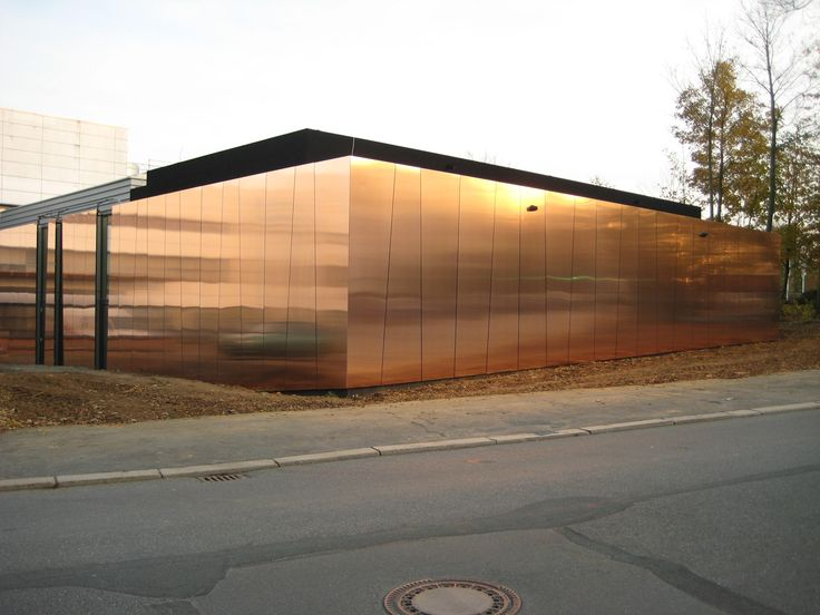 Metal sheet and panel for facade TECU® Bond by KME Italy SpA - calcul surface facade maison