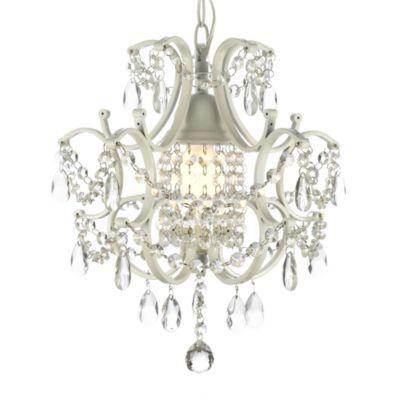 Wrought Iron and Crystal 1-Light Chandelier - BedBathandBeyond.com
