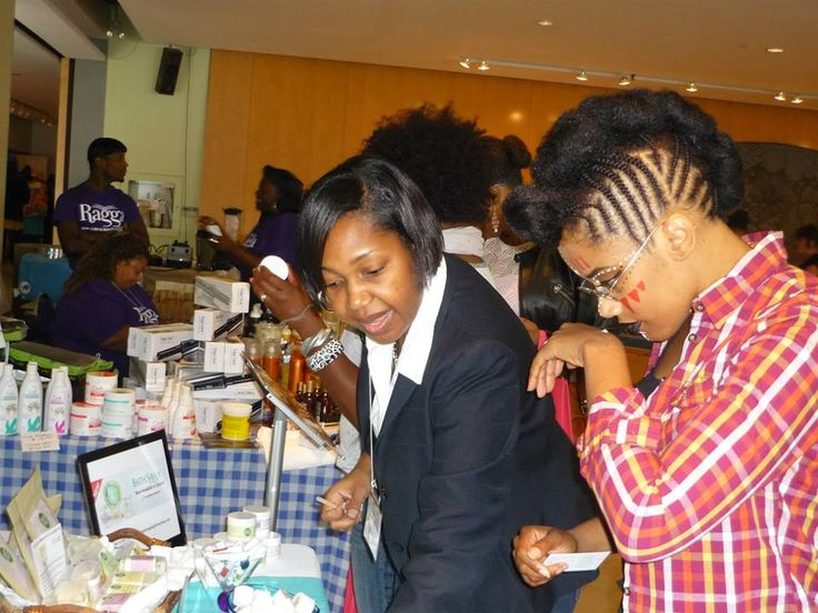 Enjoying the amazing scent of Bath Savvy Naturals Coconut Lime body butter. — at Toronto Natural Hair Show .