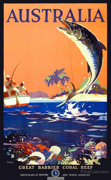 Visit Australia Travel Poster