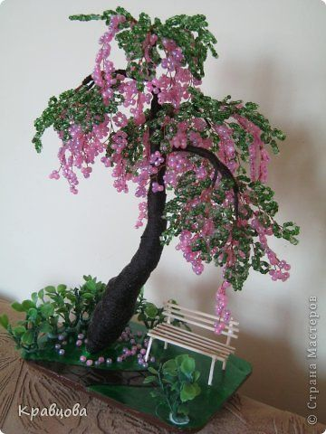 Дерево из бисера МК