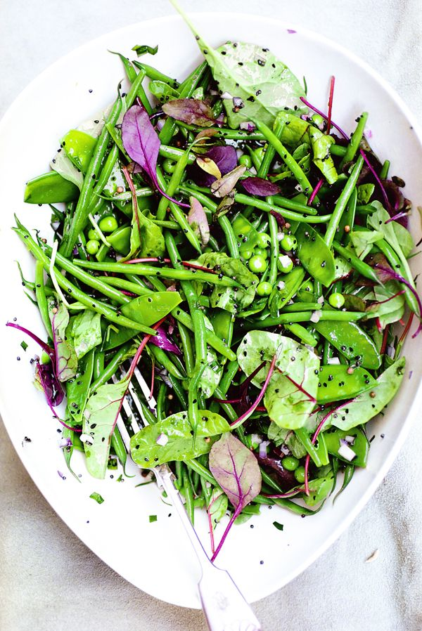 Green bean salad with mustard seeds & tarragon from Plenty: Vibrant Recipes from London's Ottolenghi.