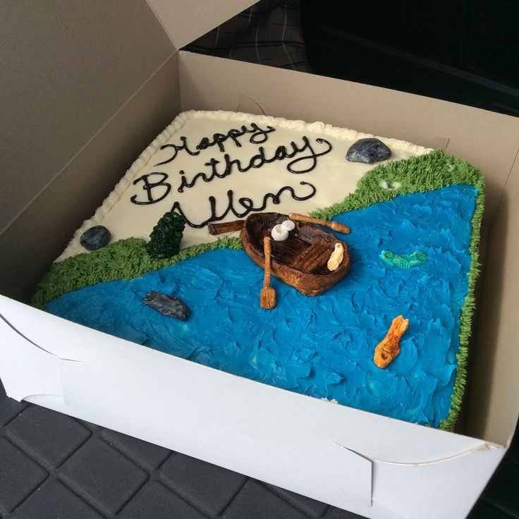 Fishing cake was two tree over by the big rock