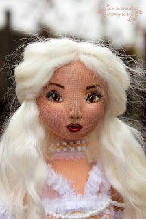 Авторские куклы Анны Балябиной. Блог Мои любимые игрушки: Белая королева и Конкурс текстильной шарнирной куклы им. Тима Бёртона