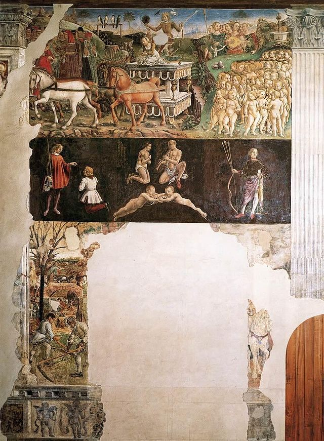 Francesco del Cossa - Allegory of May - Triumph of Apollo - WGA05409.jpg