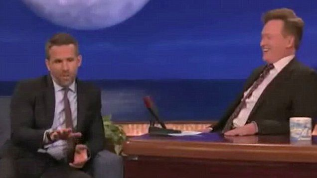 Ryan Reynolds sat down on Conan, where he discussed how his 7-month-old daughter completely ignores him in favor of her mother, Blake Lively.  Reynolds also praised Lively's attitude as she gave birth, describing her as 'a mercenary.'