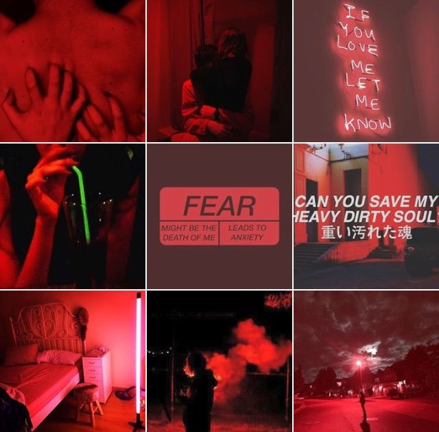 The red theme/layout for my Instagram account @_.klexos._