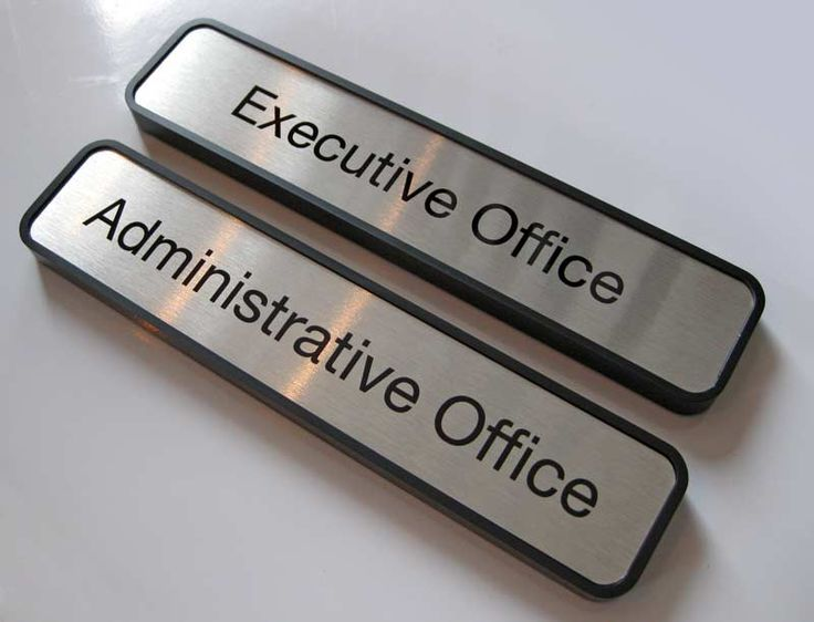 Office Name Plates: Room Signs, Administration Signs & Office