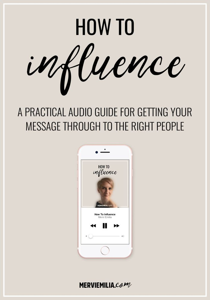 Download How to Influence, a practical audio guide for learning how to reach the right people and make them crave for your knowledge and ideas: https://merviemilia.com/free #influence #audio #training #inspiration #success #business #marketing