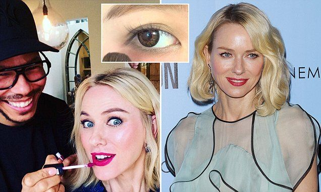Naomi Watts applies blush under her EYES for a youthful appearance