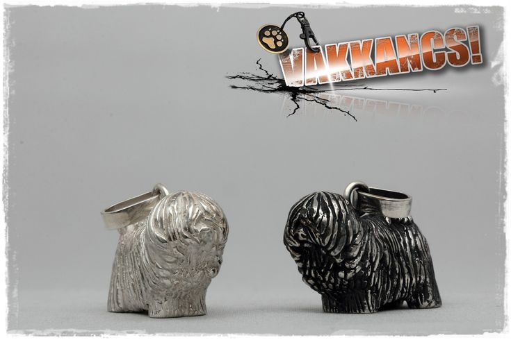 Vakkancs Puli mini-sculpture pendant. Sterling silver. http://www.vakkancs.eu/vakkancs_dogs/puli/puli-pendant-sterlingsilver