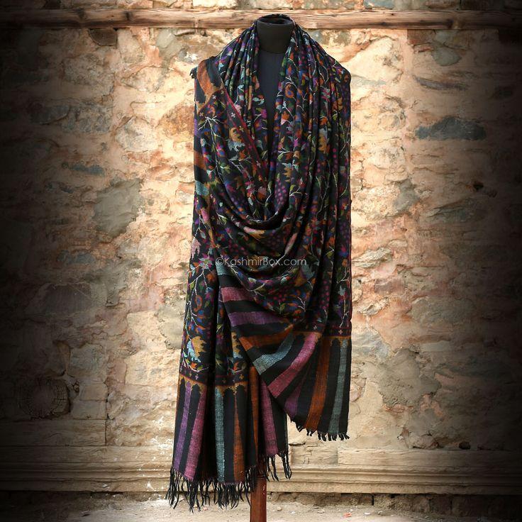 pashmina saffron wrap shawl gents kashmirbox kashmir