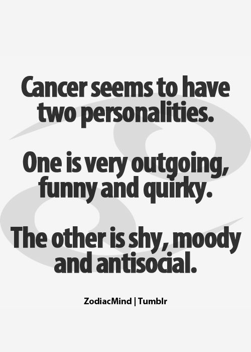 "I did NOT go to zodiac signs when I read this. My thought was ""What?! Cancer has ONE personality and it's stupid!"" LOL!"