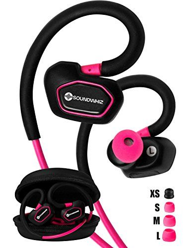 Special Offers - Bluetooth Earbuds. SoundWhiz Spark Best Wireless Earbuds. Stable Fit For Running Cycling Gym Yoga Fitness. Wireless Headset with Mic. Pink. - In stock & Free Shipping. You can save more money! Check It (November 21 2016 at 10:33AM) >> http://wheadphoneusa.net/bluetooth-earbuds-soundwhiz-spark-best-wireless-earbuds-stable-fit-for-running-cycling-gym-yoga-fitness-wireless-headset-with-mic-pink/