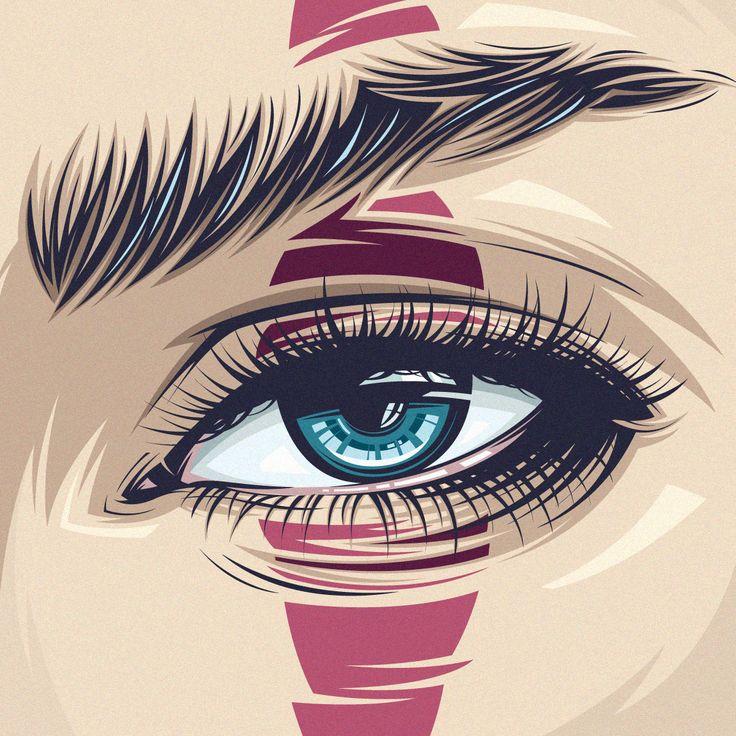 vector, vector art, vector portrait, eyes