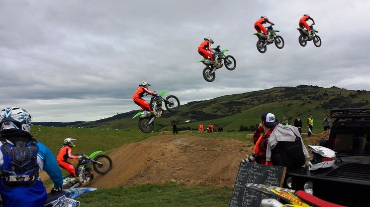 Moto action at #farmjam