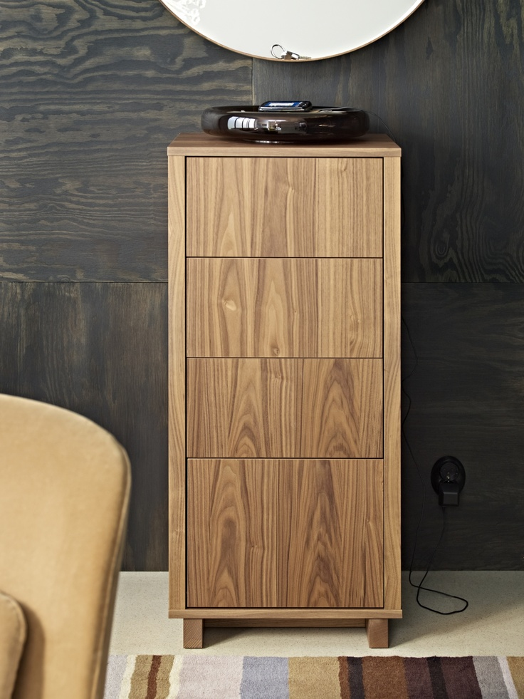 walnut veneer chest of drawers 2