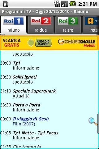 Programmi TV su Android Gratis!!