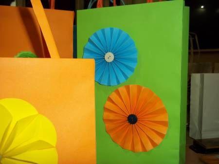 bolsas papel cartulinas decoradas tambien cajitas