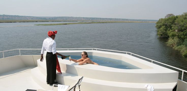 AmaWaterways - Swimming pool aboard zambezi Queen