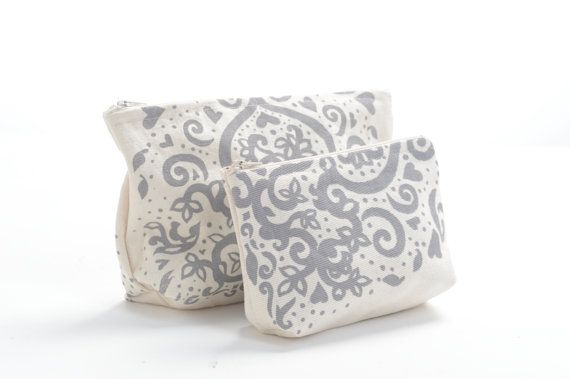 Silkscreened Lined Grey Clutch and Purse Combo FREE by WHISPbyAdri, $19.50