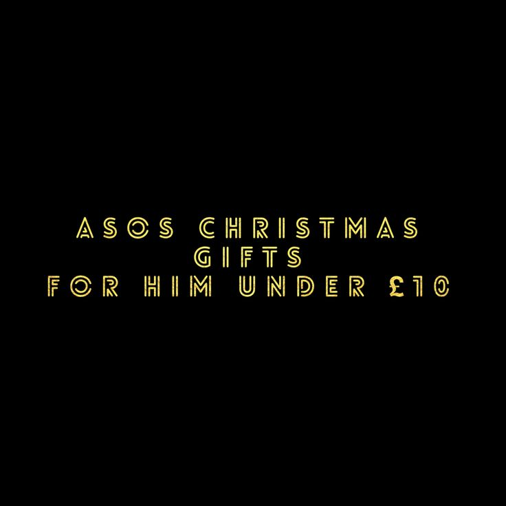 ASOS Christmas Gifts for Him Under £10! – As seen on Jean