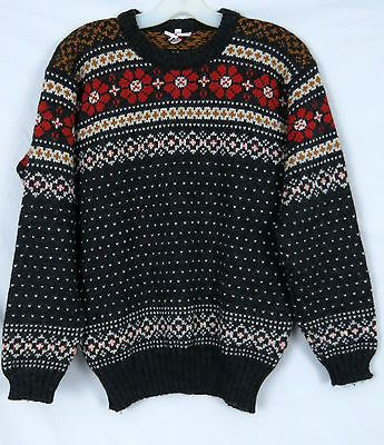 Nice Mens or Womens Wool Sweater Nordic Print Vossknit Norway Size Medium | eBay