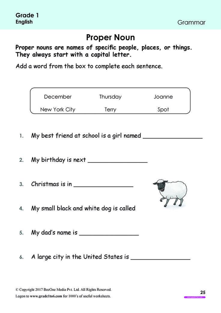 Pin on Grade 1 English Worksheets PYP/CBSE/ICSE
