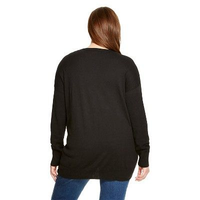 Women's Plus Size Cardigans Black 2X - Mossimo Supply Co.(Juniors')