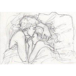 couple, desenhos, drawing, illustration, kiss, love inspiring picture on Favim.com