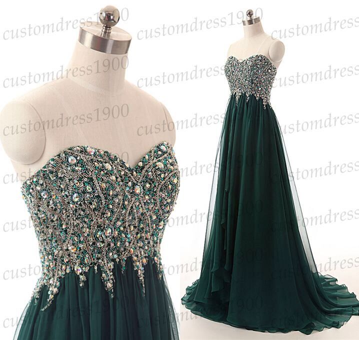 Sweetheart long prom dress,green long evening dress,handmade beading chiffon formal women dress,wedding party dresses by customdress1900 on Etsy https://www.etsy.com/listing/217476035/sweetheart-long-prom-dressgreen-long