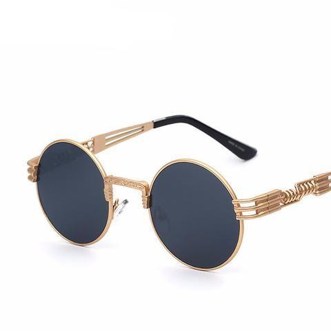 Hong Sonnenbrillen Fashion Style Metall Runden Rahmen Sonnenbrille die C FP2DIVA