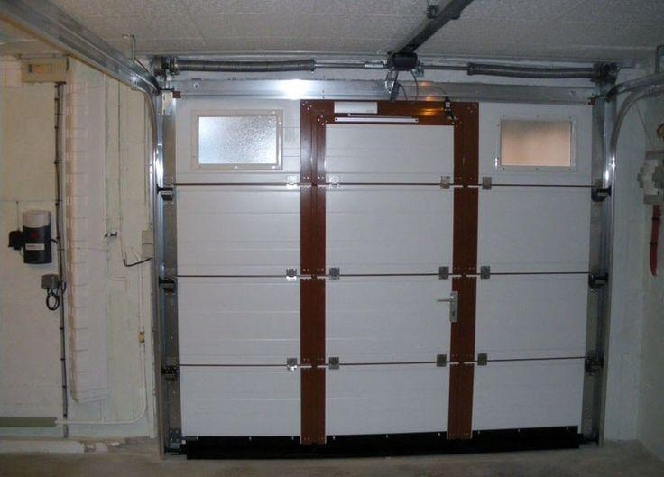 Porte Garage Castorama  concernant  Porte De Garage Sectionnelle Avec Porte Fenetre Pvc Castorama