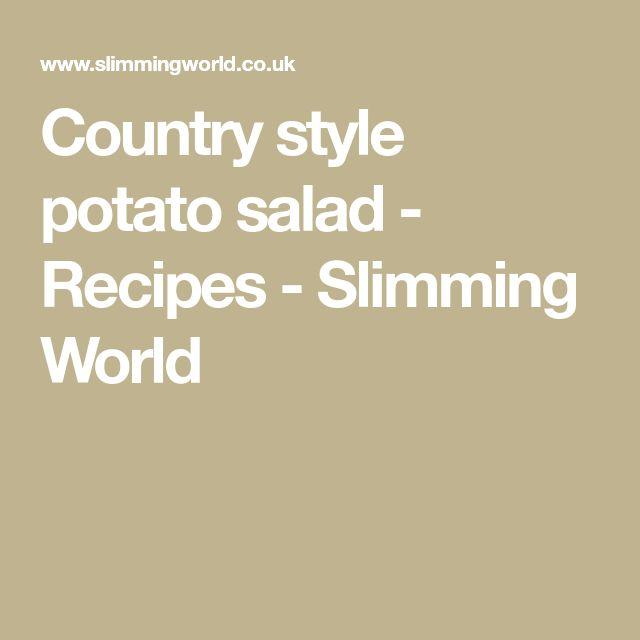Country style potato salad - Recipes - Slimming World