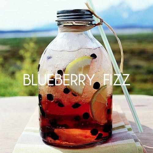 blueberry fizz summer drink: Lemon Limes, Recipe, Summer Drinks, Summer Parties, Flavored Gingers, Blueberry Fizz, Gingers Ales, Easy To Mak Flavored, Blueberries Fizz