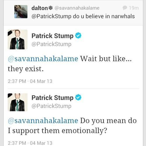 Reason 4,023,098 Patrick Stump is amazing.