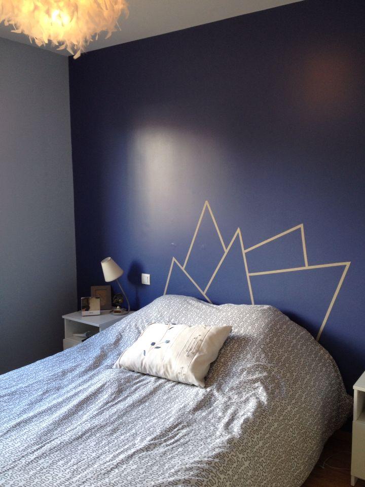 Meer dan 1000 idee n over tete de lit maison op pinterest lit maison hoofd - Tete de lit masking tape ...