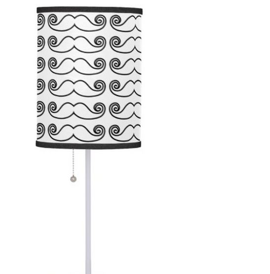 Mustached lamp on sale in my zazzle store! www.zazzle.com/martinaterzi check it out!