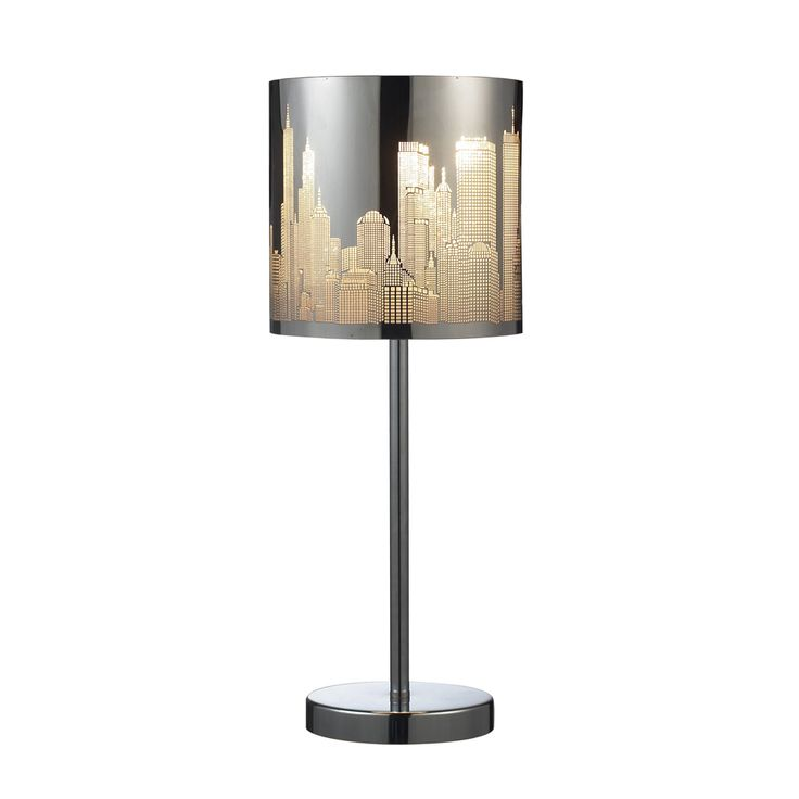 153 best contemporary modern table lamps images on pinterest skyline steel table lamp shown in polished stainless steel by dimond lighting mozeypictures Choice Image