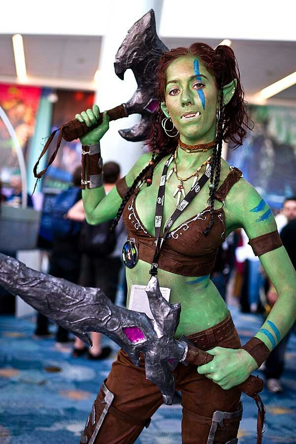 59 best cosplay brunettes images on pinterest cosplay ideas awesome orc cosplay from world of warcraft or dungeons dragons solutioingenieria