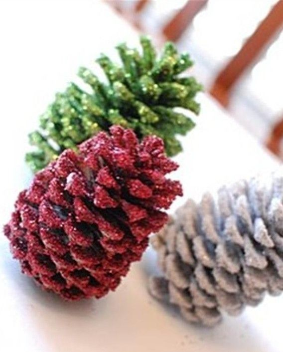 73 best 2013 chic christmas pinecone decorations images on for Crafts made with pine cones for christmas