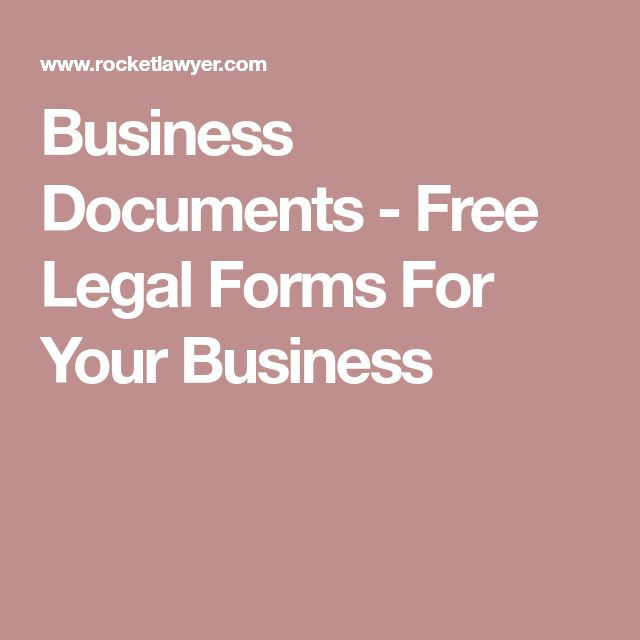 Business Documents - Free Legal Forms For Your Business