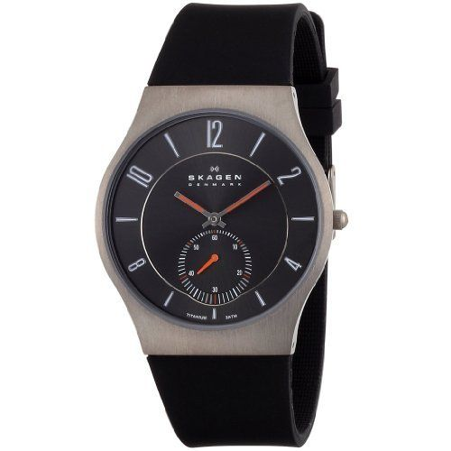Skagen Black Silicone Analog Men's Watch 805XLTRB Skagen. $63.00