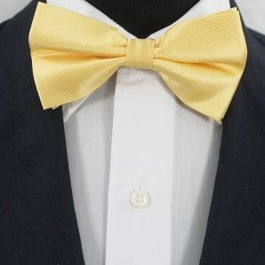 Gold Yellow Bow Tie Set / Wedding Bow Tie Set