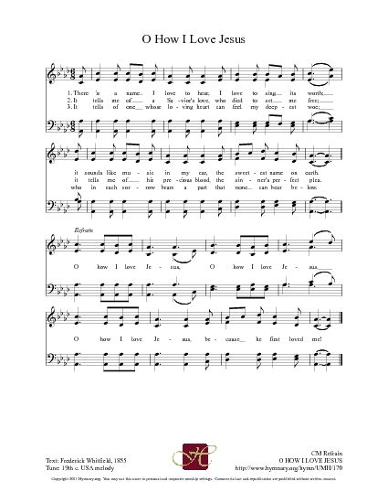 Oh, How I Love Jesus - Hymnary.org