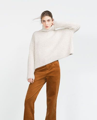 Image 3 of HIGH NECK SWEATER from Zara